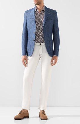 Мужская хлопковая рубашка BOSS бордового цвета, арт. 50433056 | Фото 2