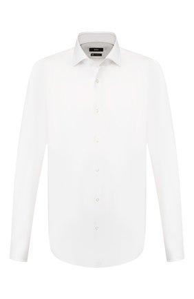 Мужская хлопковая сорочка BOSS белого цвета, арт. 50433179 | Фото 1