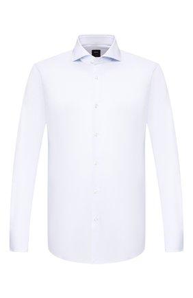 Мужская хлопковая сорочка BOSS голубого цвета, арт. 50433392 | Фото 1