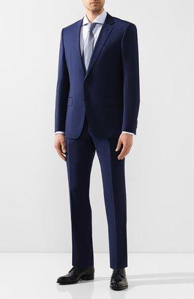 Мужская хлопковая сорочка BOSS голубого цвета, арт. 50433392 | Фото 2