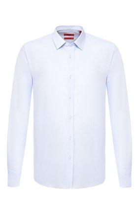 Мужская хлопковая сорочка HUGO голубого цвета, арт. 50431911 | Фото 1