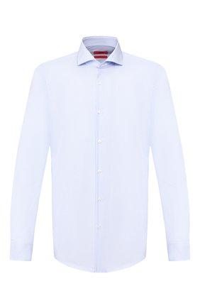 Мужская хлопковая сорочка HUGO голубого цвета, арт. 50431340 | Фото 1