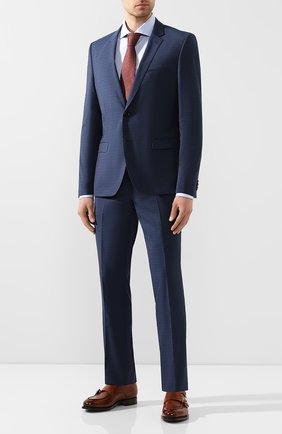 Мужская хлопковая сорочка HUGO голубого цвета, арт. 50431340 | Фото 2