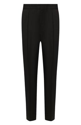 Мужской шерстяные брюки HUGO черного цвета, арт. 50417422   Фото 1