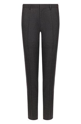 Мужской шерстяные брюки BOSS темно-серого цвета, арт. 50432422 | Фото 1