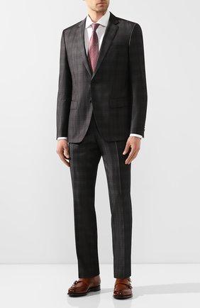 Мужской шерстяной костюм BOSS темно-серого цвета, арт. 50433006 | Фото 1