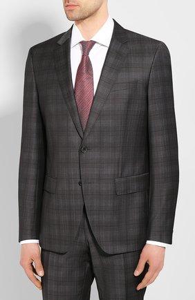 Мужской шерстяной костюм BOSS темно-серого цвета, арт. 50433006 | Фото 2