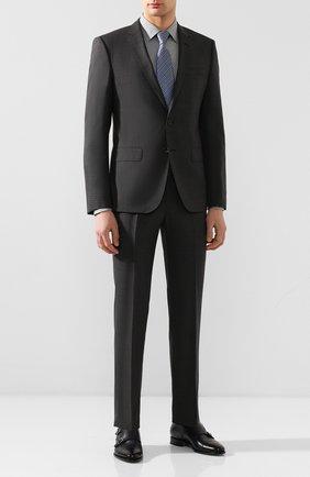 Мужской шерстяной пиджак BOSS темно-серого цвета, арт. 50432890 | Фото 2