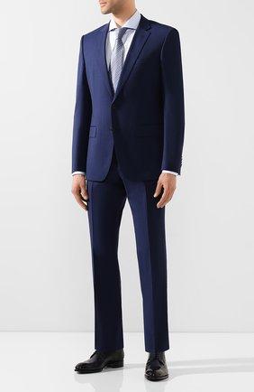 Мужской шерстяной костюм BOSS синего цвета, арт. 50432934 | Фото 1