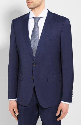 Мужской шерстяной костюм BOSS синего цвета, арт. 50432934 | Фото 2