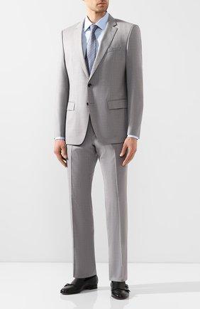 Мужской шерстяной костюм BOSS светло-серого цвета, арт. 50433002 | Фото 1