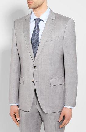 Мужской шерстяной костюм BOSS светло-серого цвета, арт. 50433002 | Фото 2
