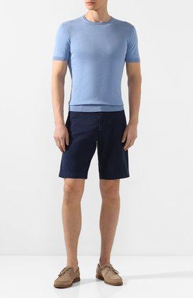 Мужские хлопковые шорты ANDREA CAMPAGNA темно-синего цвета, арт. BER_MUDA/0L3621X   Фото 2