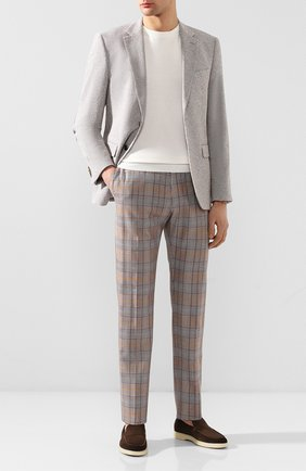 Мужской хлопковые брюки BERWICH коричневого цвета, арт. VULCAN0/SB1025 | Фото 2