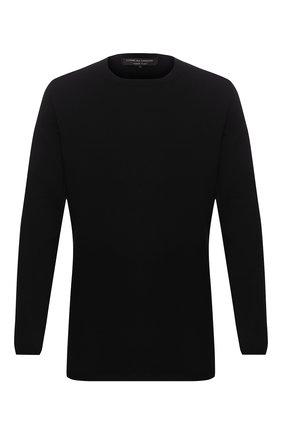 Мужской хлопковый джемпер COMME DES GARCONS HOMME PLUS черного цвета, арт. PE-N018-051 | Фото 1