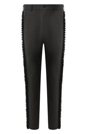 Мужской шерстяные брюки COMME DES GARCONS HOMME PLUS темно-серого цвета, арт. PE-P017-051 | Фото 1