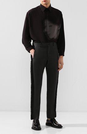 Мужской шерстяные брюки COMME DES GARCONS HOMME PLUS темно-серого цвета, арт. PE-P017-051 | Фото 2