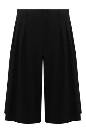 Мужские шерстяные шорты COMME DES GARCONS HOMME PLUS черного цвета, арт. PE-P019-051 | Фото 1