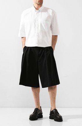 Мужские шерстяные шорты COMME DES GARCONS HOMME PLUS черного цвета, арт. PE-P019-051 | Фото 2