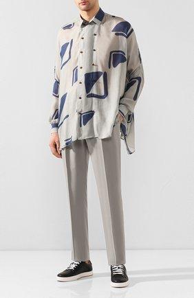 Мужская рубашка GIORGIO ARMANI серого цвета, арт. 0SGCCZ32/TZ591 | Фото 2