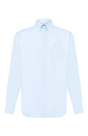 Мужская льняная рубашка PAUL&SHARK голубого цвета, арт. P20P3070 | Фото 1