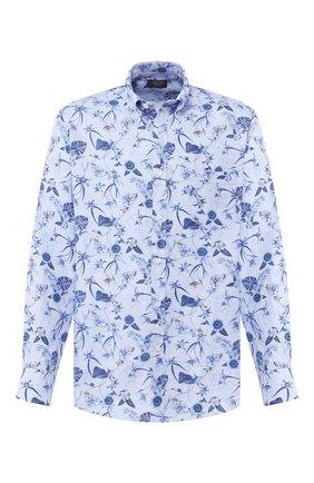 Мужская льняная рубашка PAUL&SHARK синего цвета, арт. P20P3250 | Фото 1
