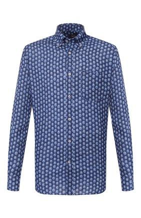 Мужская льняная рубашка PAUL&SHARK синего цвета, арт. P20P3260 | Фото 1
