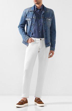 Мужская льняная рубашка PAUL&SHARK синего цвета, арт. P20P3260 | Фото 2