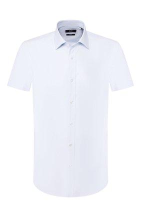Мужская хлопковая сорочка BOSS голубого цвета, арт. 50433073 | Фото 1