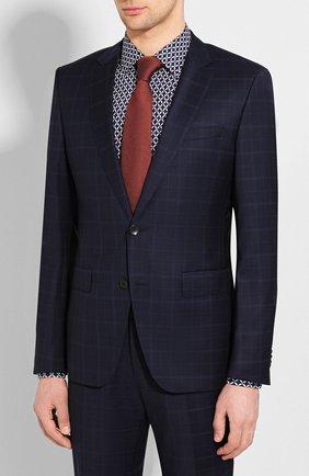 Мужской шерстяной костюм BOSS синего цвета, арт. 50432909 | Фото 2