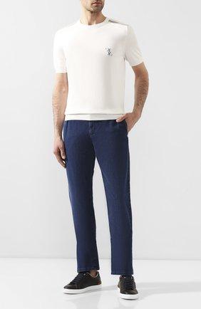 Мужские джинсы ZILLI темно-синего цвета, арт. MCT-00089-DESU1/R001 | Фото 2
