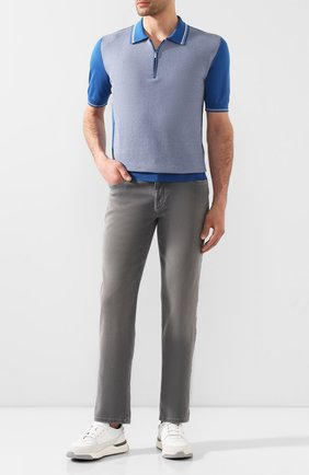 Мужские джинсы ZILLI светло-серого цвета, арт. MCT-00101-DSN01/R001 | Фото 2