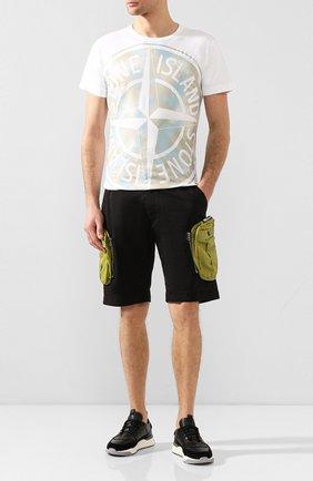 Мужские хлопковые шорты STONE ISLAND SHADOW PROJECT черного цвета, арт. 7219L0109 | Фото 2