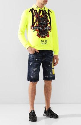 Мужские джинсовые шорты PHILIPP PLEIN темно-синего цвета, арт. P20C MDT2096 PDE004N | Фото 2