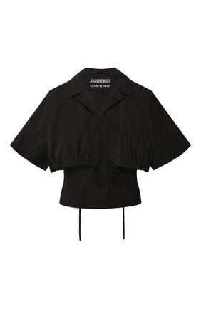 Женская рубашка JACQUEMUS черного цвета, арт. 201T006/23990 | Фото 1