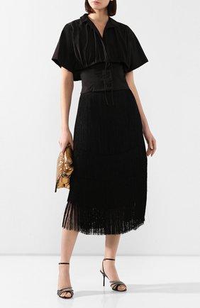 Женская рубашка JACQUEMUS черного цвета, арт. 201T006/23990 | Фото 2