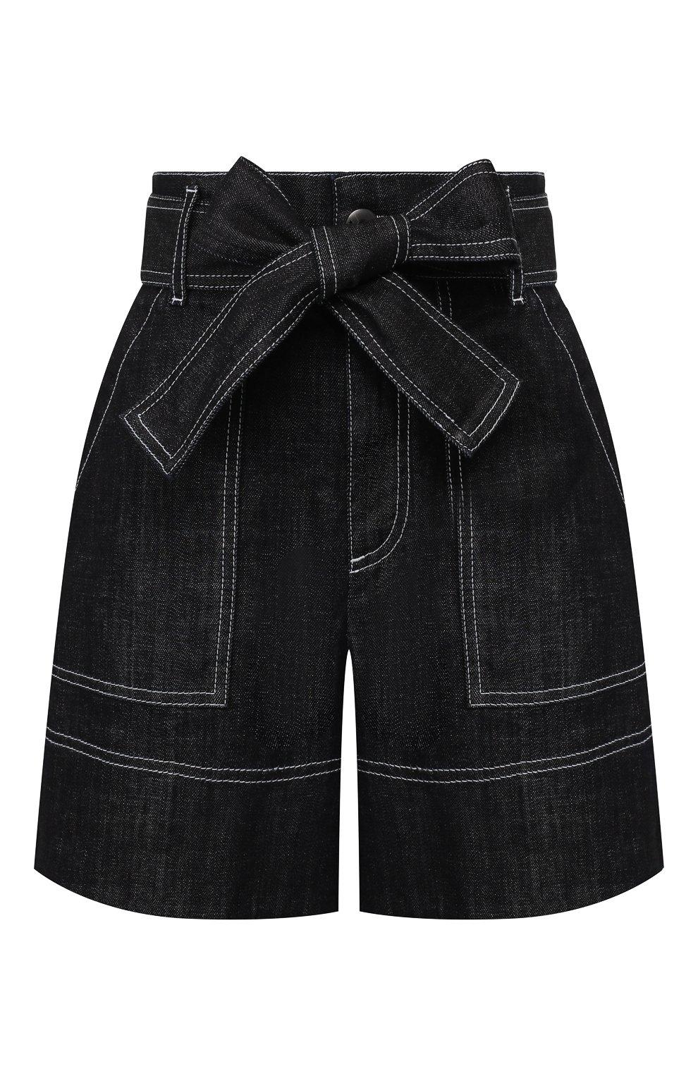 Женские джинсовые шорты LORENA ANTONIAZZI темно-синего цвета, арт. P2022PA107/3219 | Фото 1 (Женское Кросс-КТ: Шорты-одежда; Длина Ж (юбки, платья, шорты): Мини; Материал внешний: Хлопок; Стили: Кэжуэл)