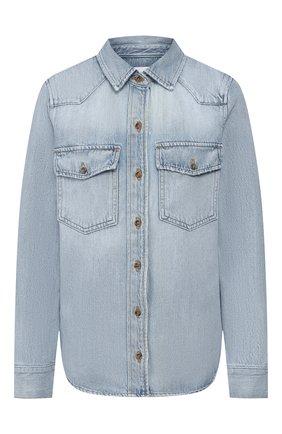Женская джинсовая рубашка FRAME DENIM голубого цвета, арт. HDSH207 | Фото 1