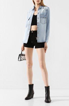 Женская джинсовая рубашка FRAME DENIM голубого цвета, арт. HDSH207 | Фото 2