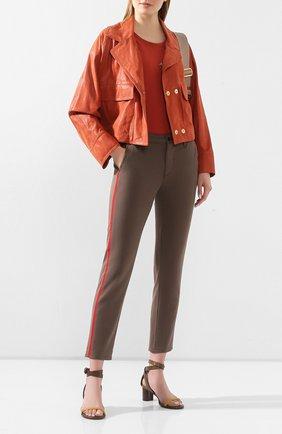 Женские брюки AG хаки цвета, арт. SBW1995GX/P0RD | Фото 2