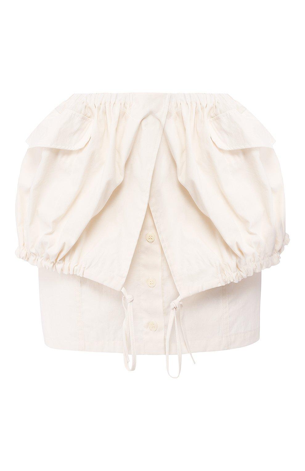 Женская юбка JACQUEMUS белого цвета, арт. 201SK07/23110 | Фото 1
