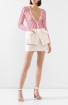 Женская юбка JACQUEMUS белого цвета, арт. 201SK07/23110 | Фото 2