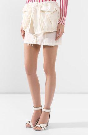 Женская юбка JACQUEMUS белого цвета, арт. 201SK07/23110 | Фото 3