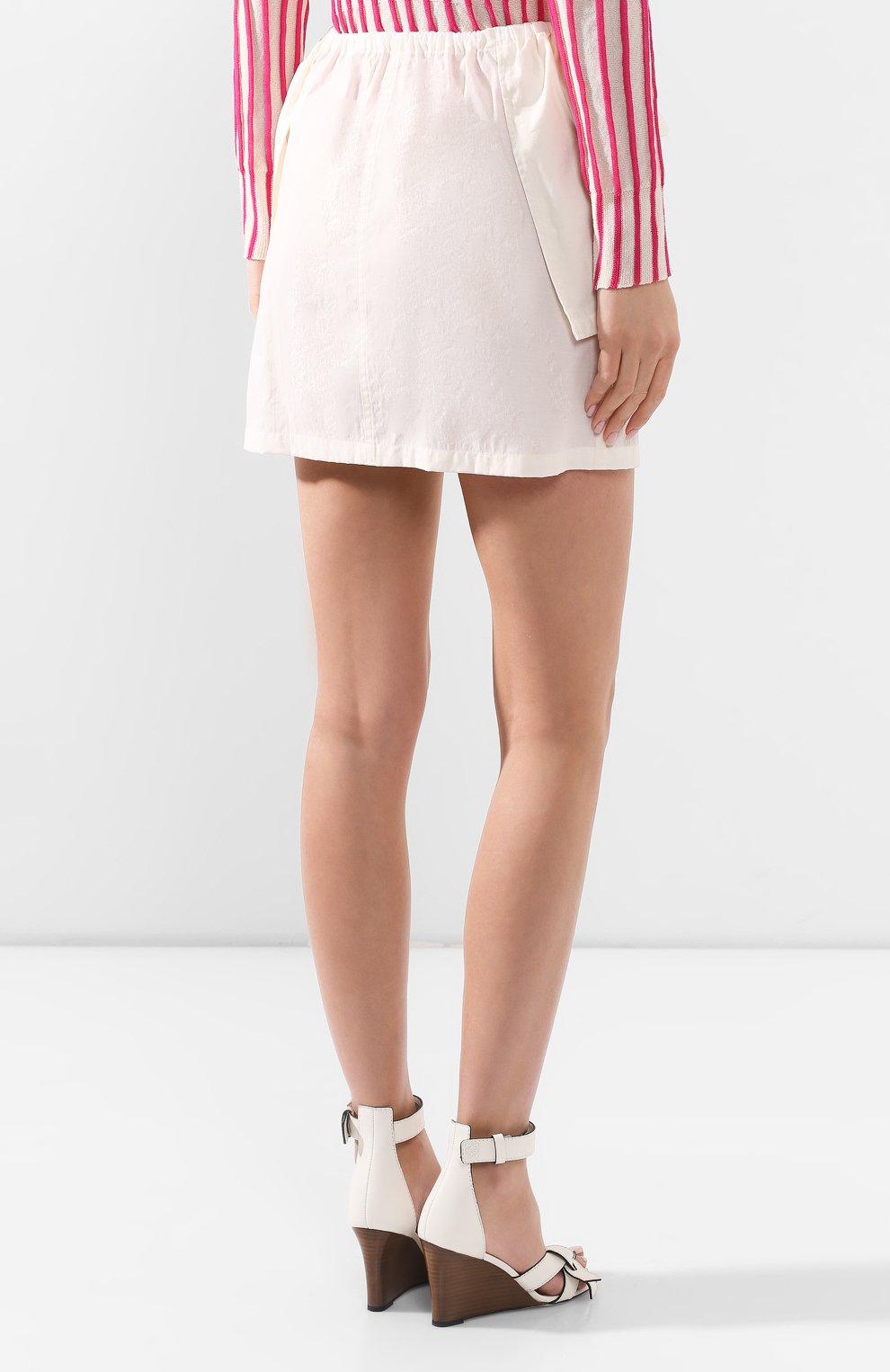 Женская юбка JACQUEMUS белого цвета, арт. 201SK07/23110 | Фото 4