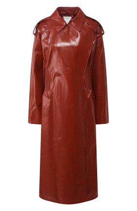 Женский кожаный тренч BOTTEGA VENETA красного цвета, арт. 616546/VKLC0   Фото 1