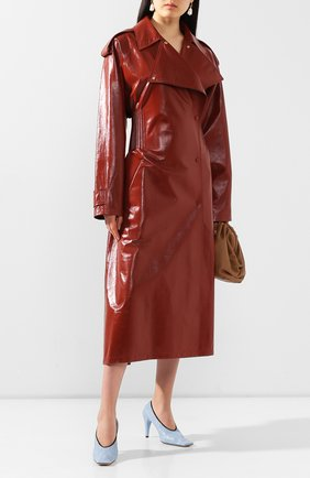 Женский кожаный тренч BOTTEGA VENETA красного цвета, арт. 616546/VKLC0   Фото 2