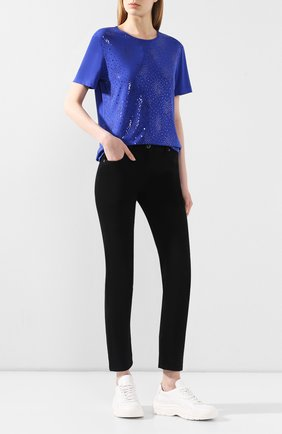Женская футболка ST. JOHN синего цвета, арт. K51Z042 | Фото 2