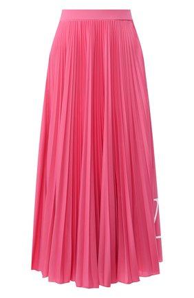 Женская плиссированная юбка VALENTINO фуксия цвета, арт. TB0MD01T4TJ | Фото 1