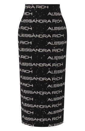 Женская юбка ALESSANDRA RICH черно-белого цвета, арт. FAB1817-F2788 | Фото 1