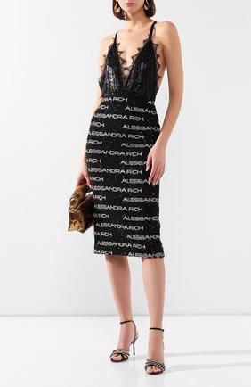 Женская юбка ALESSANDRA RICH черно-белого цвета, арт. FAB1817-F2788 | Фото 2